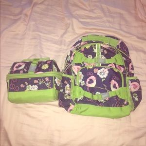 Pottery Barn backpack and lunchbox matching set